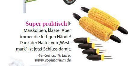 Produktvorstellung Westmarkt Maiskolbenhalter