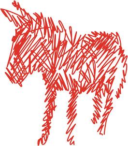 Der rote Esel von Donkey Products