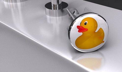 plopp! Waschbecken-Stöpel Quietscheentchen