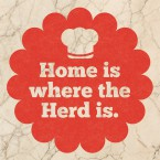 sticky jam Fliesen-Sticker - Home is where the herd is