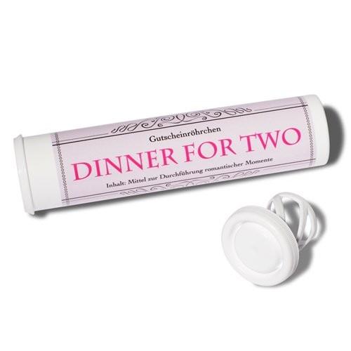 Gartenmobel Tisch Polyrattan :  oder GutscheinRöhrchen  Dinner for Two Geschenke Geld verschenken